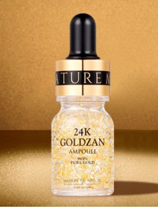 現貨💖SKINATURE 24K GOLDZAN AMPOULE 99%PURE 黃金金箔胜肽濃縮精華 中樣 10ML