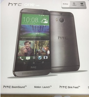 HTC ONE M8 手機 深灰色 (接近全新) Pokemon go
