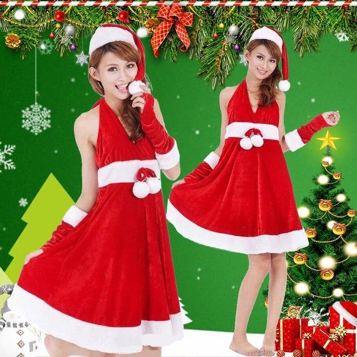 聖誕節衣服女成人聖誕服飾裙子聖誕老人服裝大碼裝扮套裝演出服