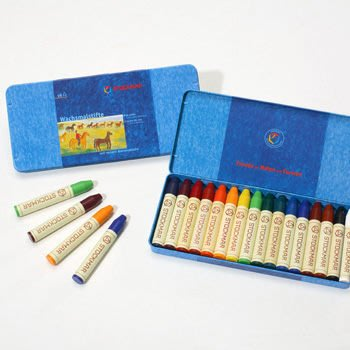 【Stockmar史督曼】蜂蜜蠟筆 16色 *德國華德福產品 鐵盒包裝*