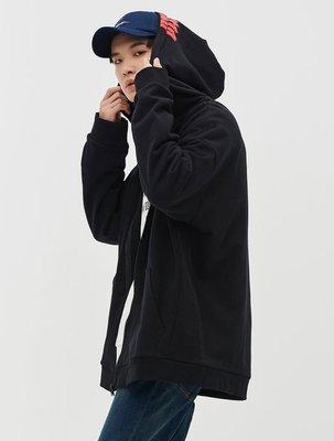 韓國代購 八秒 8 SECONDS X GD 男版 黑色拉鍊連帽外套