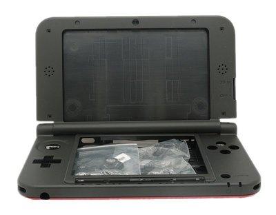 任天堂 Nintendo 3DSLL N3DSLL 主機殼 主機外殼(瑪利歐 紅黑色)【台中恐龍電玩】