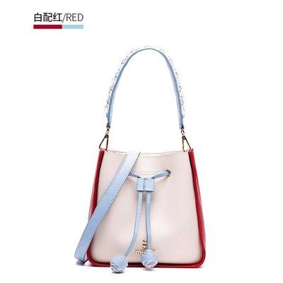 【米蘭箱包】水桶包女2018新款迷你韓版潮仙女百搭時尚簡約手提斜挎單肩包1808ML043