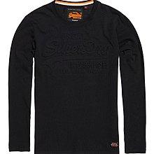 特價低調黑Logo 土耳其製 極度乾燥 Superdry Emb T-shirt T恤 長袖 長T 黑色 純棉 浮雕壓印