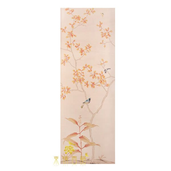 【芮洛蔓 La Romance】手繪絲綢壁紙 ZW01-026-07 / 壁飾 / 畫飾