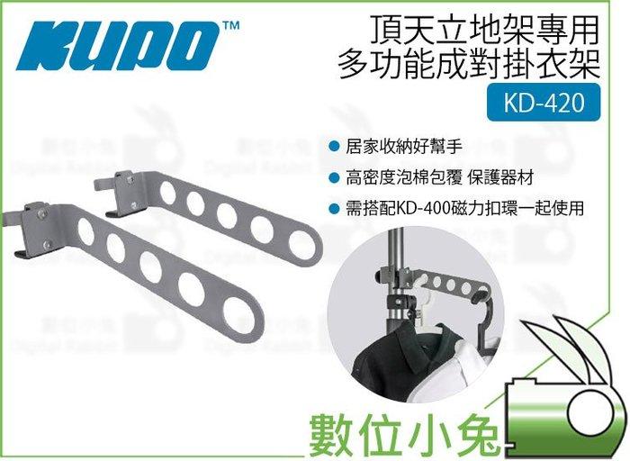 數位小兔【KUPO 頂天立地架專用多功能成對掛衣架 KD-420】曬衣架 晾衣架 一套2支 KD420 天地桿