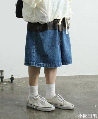 韓國代購19SS over fit wide banding shorts 夸張寬松牛仔短褲 低價 批發