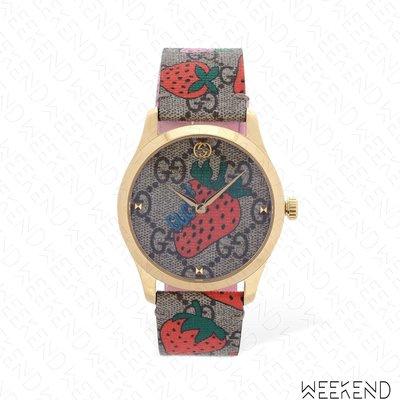 【WEEKEND】 GUCCI Strawberry Supreme 草莓 皮革 手錶 19春夏