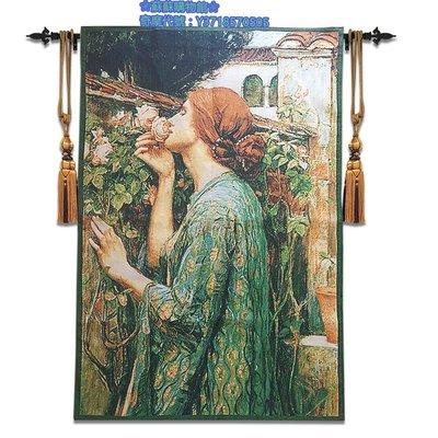 ❀蘇蘇購物館❀比利時掛毯 少女 臥室壁畫 沃特豪斯名畫《聞香識女人》新