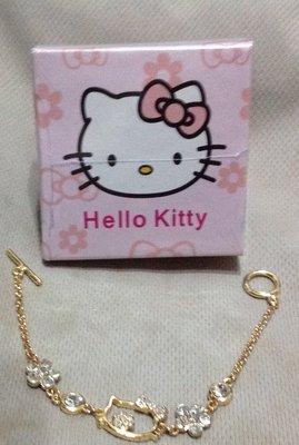 全新Kitty貓咪公主銀手鍊水鑽銀飾手鍊女首飾品日韓版手環女附禮盒適合送禮
