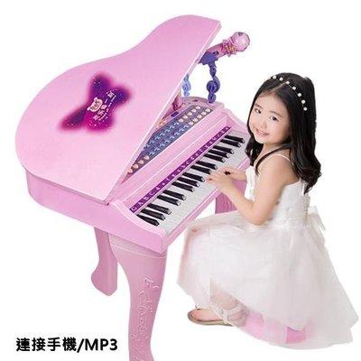 MP3 麥克風 電子鋼琴 電子琴 37鍵 電子鋼琴 聲光效果 鋼琴 二合一功能 可當音箱【塔克玩具】