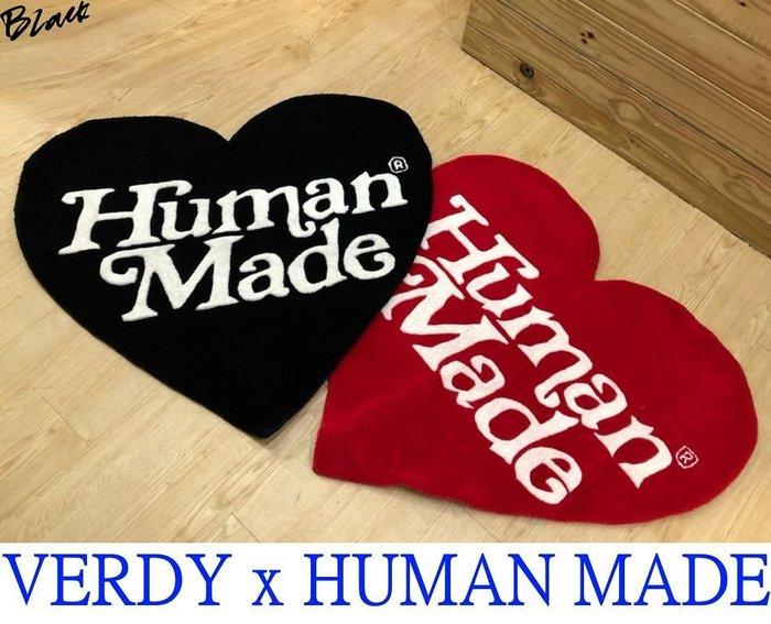 BLACK全新HUMAN MADE x VERDY京都開幕限定GIRLS DONT CRY愛心等身大地毯/地墊