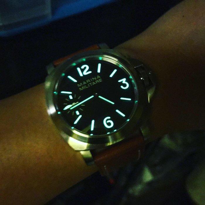 【六樓先生】Marina Militare 44MM 藍寶石 手上鍊 強夜光機械錶 parnis