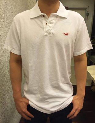 ☆瘋米國衣舖☆ 台中正品專賣 全新現貨 Hollister HCO 男生網眼Polo衫 白色