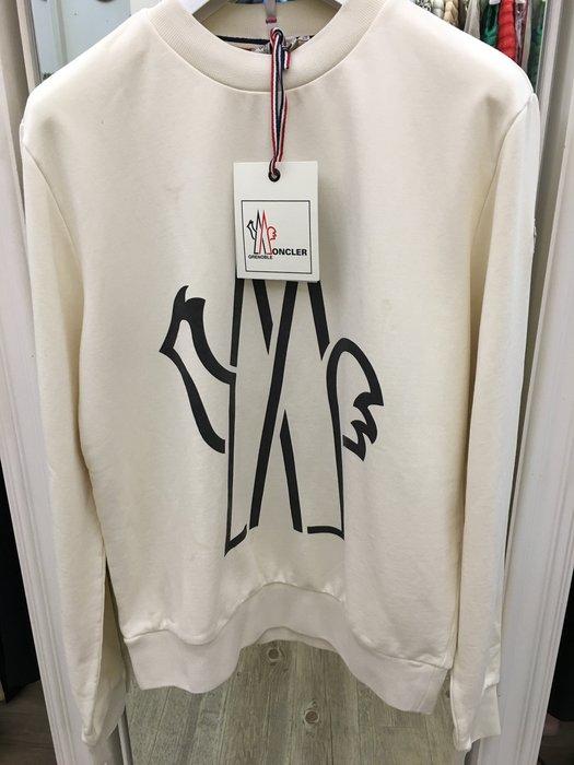 喬瑟芬【Moncler Grenoble  】現貨~2015秋冬 滑雪系列 米白色Logo 刷毛Sweatshirt