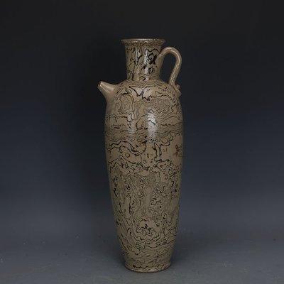 ㊣姥姥的寶藏㊣ 唐代灰地全手工絞胎瓷執壺  文物出土古瓷器古玩古董收藏擺件