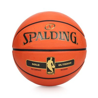 SPALDING NBA-Rubber 金色籃球 (7號球 室外 戶外 耐磨 斯伯丁【99301713】≡排汗專家≡