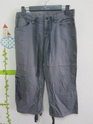 衣市藍~NIKE 休閒七分褲 (M~160/66A~) (190901)