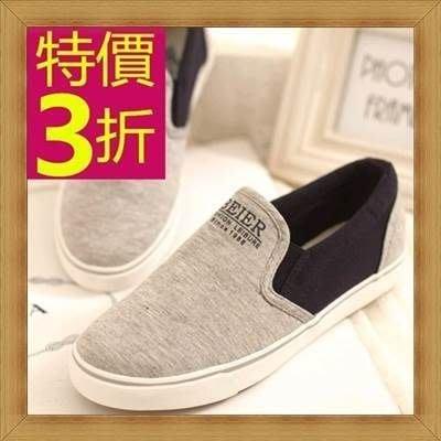 帆布鞋 女平底鞋-有型經典韓版女休閒鞋3色53u58[韓國進口][米蘭精品]