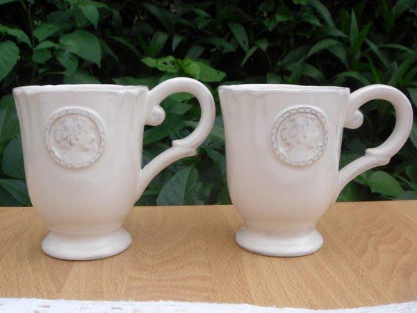 蘇菲亞精品傢飾~復古做舊巴洛克風浮雕馬克杯出清商品