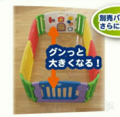 【BABY House高雄旗艦店】出租 日本育兒Musical kids land 音樂兒童圍欄 六大片組