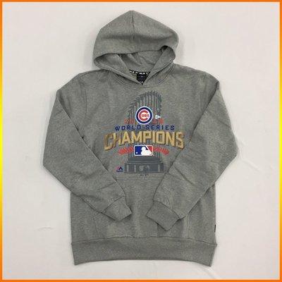 芝加哥小熊 Cubs 2016 MLB 世界大賽總冠軍連帽T恤 灰 6660101-950