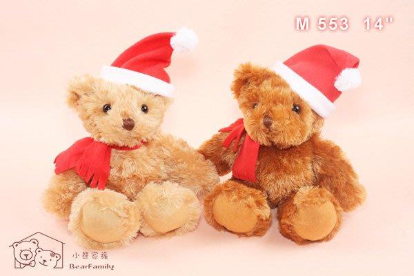 35公分聖誕泰迪熊 聖誕禮物 耶誕禮品 裝飾小物~*小熊家族*~ 泰迪熊專賣店~