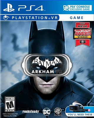 全新未拆 PS4 蝙蝠俠:阿卡漢VR -英文美版- Batman: Arkham VR