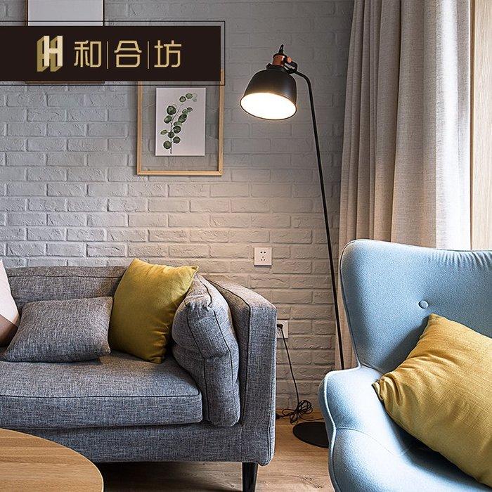 創意 居家裝飾 簡約現代北歐日式純色棉麻亞麻窗簾半遮光客廳陽臺文藝成品定制