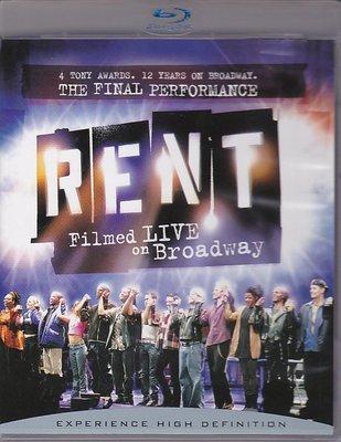 高清藍光碟 Rent Filmed Live on Broadway 百老匯音樂劇:吉屋出租 中文 25G