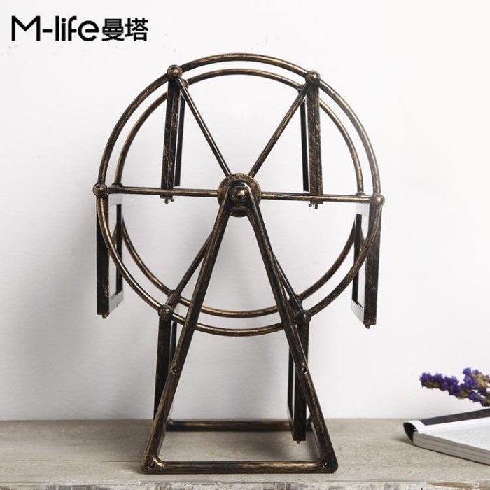 全館免運特價-擺件 歐式摩天輪相框創意房間臥室小飾品 【甜心】