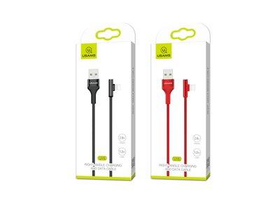 [哈GAME族]全新 顏色任選 蘋果手機用 USAMS優勝仕 U15 彎頭Lightning數據線(US-SJ260)