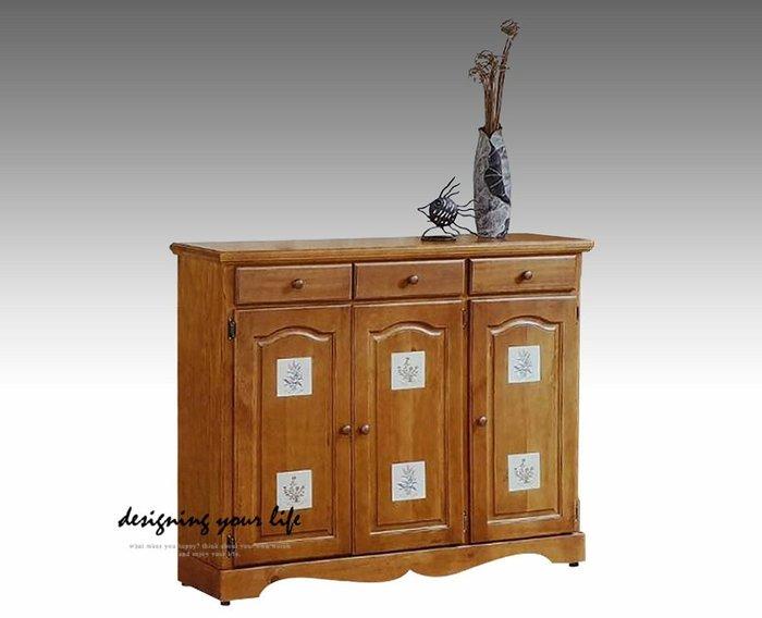 【設計私生活】聖馬丁磁磚實木4尺三抽三門鞋櫃(全館免運費)256