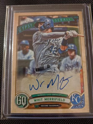 2019 Gypsy Queen Whit Merrifield Jackie Robinson Day Variation Auto 31/99