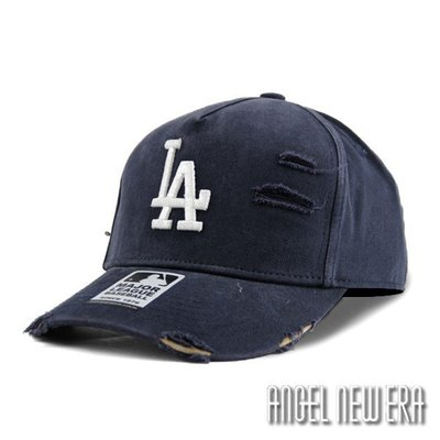 【PD帽饰】【MLB Old Fashioned Cap】LA 道奇 藏青色 破壞布 卡車帽 老帽【ANGEL NEW ERA 】