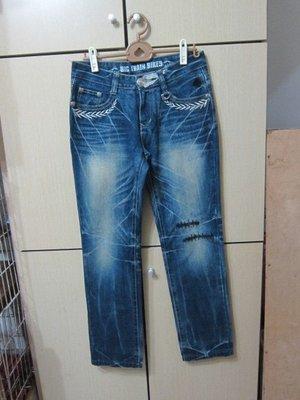 衣市藍~BIG TRAIN 直筒牛仔褲 (W30~M~) (286) (191118)