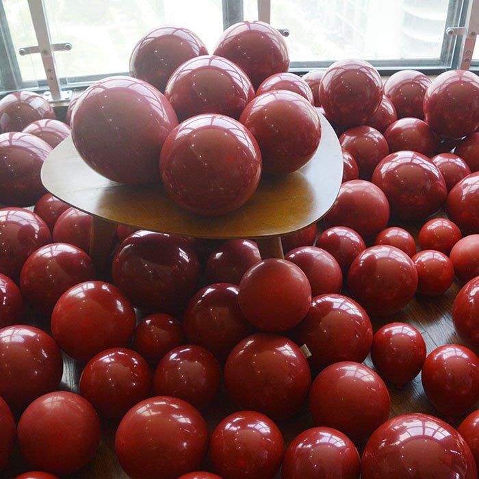 5Cgo【樂趣購】575973932692紅寶石氣球紅氣球婚房裝飾品生日派對布置酒店求婚佈置商場國慶婚禮裝扮200個批發