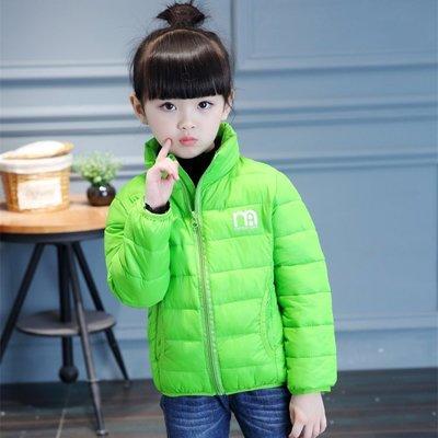 東大門平價鋪   新款兒童羽絨棉服,兒童無帽立領棉外套,純色輕薄款外套