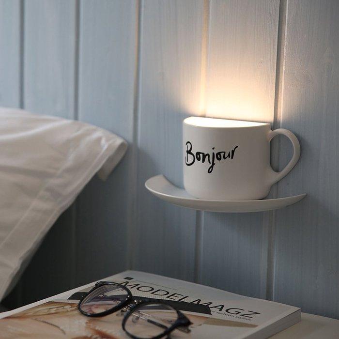 創意實用咖啡夜燈 可充電聲控 餵奶燈表白神器 送男女朋友閨蜜同學驚喜生日禮物 道具裝飾擺設_☆優購好SoGood☆