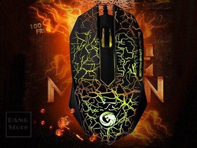 BANG T3◎送夜光手環 滑鼠 暗夜精靈 七色變換 呼吸燈 電競滑鼠 遊戲滑鼠 高靈敏 魔獸【H40】