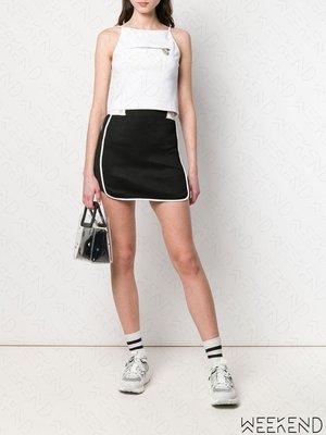 【WEEKEND】 GCDS 特殊剪裁 彈性 迷你裙 短裙 黑色 19春夏