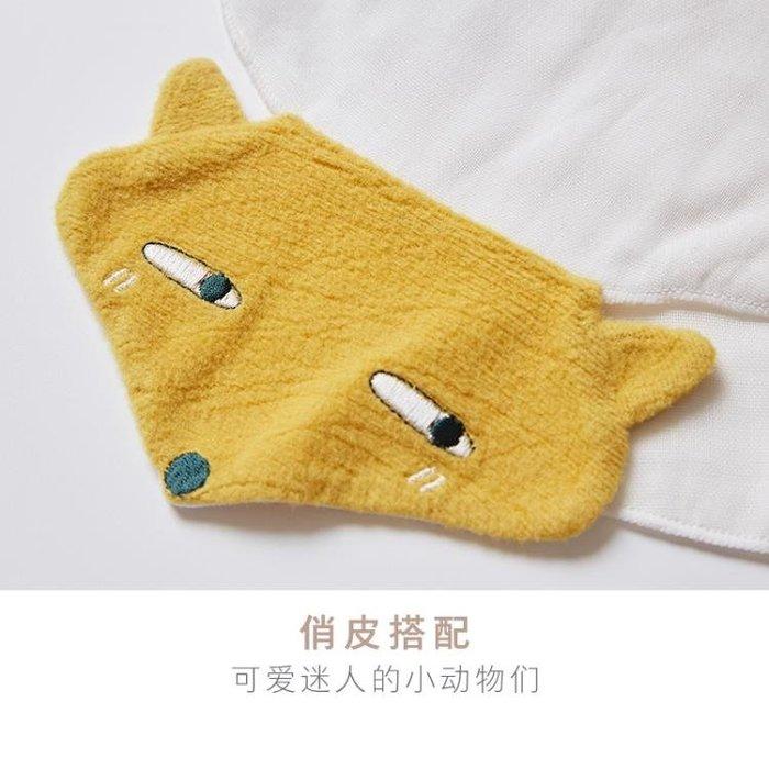 棉花堂汗巾兒童純棉寶寶墊背巾全棉幼兒園嬰兒吸汗巾秋冬款兩條裝