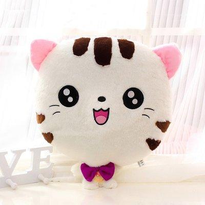 【Lovely】促銷大臉貓暖手捂兩用大號布娃娃音樂抱枕毛絨玩具貓公仔禮物玩偶