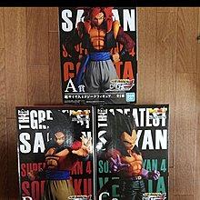 一番賞 龍珠 Dragon ball 偉大的撒亞人 Greatest Seiyan A B C 賞 四超 悟空 比達 約23cm 日版 全3盒
