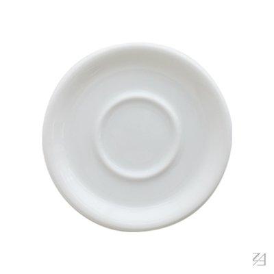 日本 ORIGAMI 摺紙咖啡陶瓷杯盤 卡布/拿鐵杯兼用(純白色)