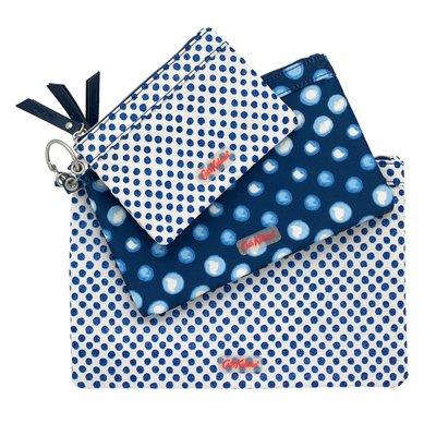 【現貨】英國 Cath Kidston 三連包 可拆開使用 (可當零錢、化妝、置物、證件..等包)