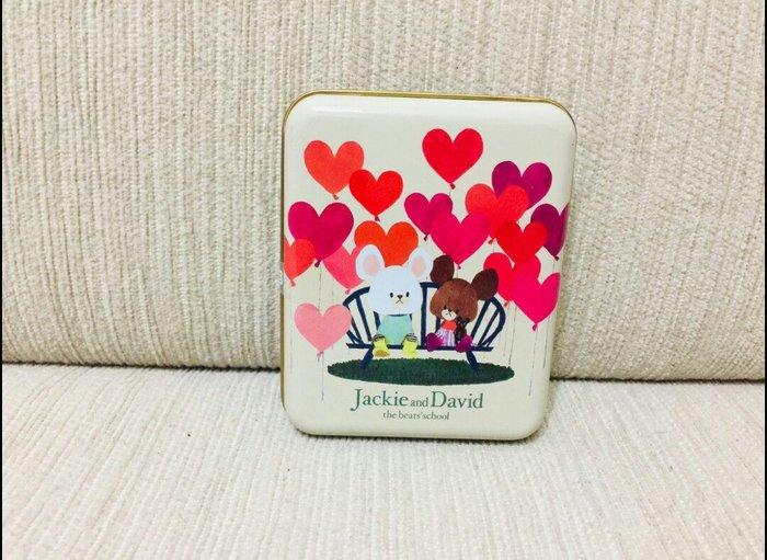 天使熊雜貨小舖~the bears school上學熊糖果盒  鐵盒 全新現貨