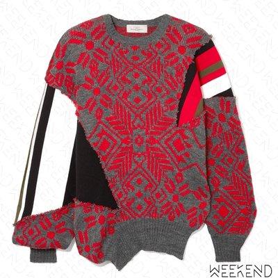 【WEEKEND】 PREEN BY THORNTON BREGAZZI 異材質 拼接 特殊剪裁 上衣 紅色 折扣