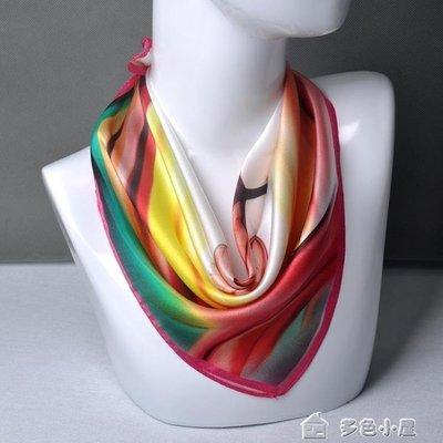 ZIHOPE 新品真絲小方巾植物花卉蘇州綢緞純桑蠶絲職業真絲絲巾圍巾ZI812