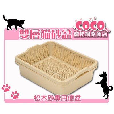【輕鬆不費力】雙層松木砂.杉木砂.木屑砂.水晶砂.豆腐砂專用貓砂盆/雙層貓便盆